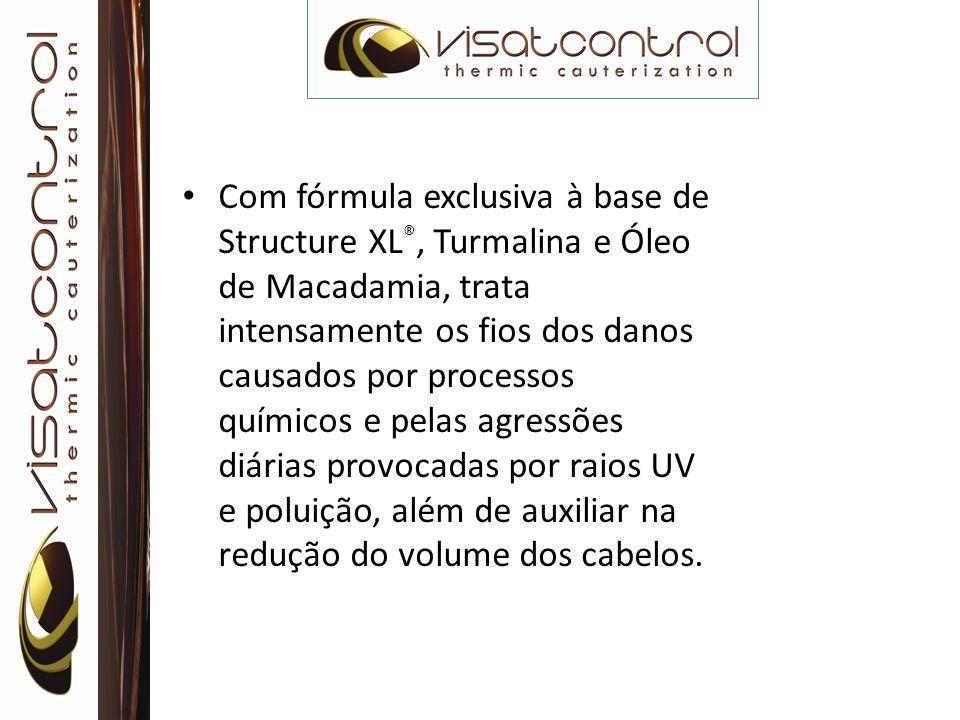 Com fórmula exclusiva à base de Structure XL ®, Turmalina e Óleo de Macadamia, trata intensamente os fios dos danos causados por processos químicos e