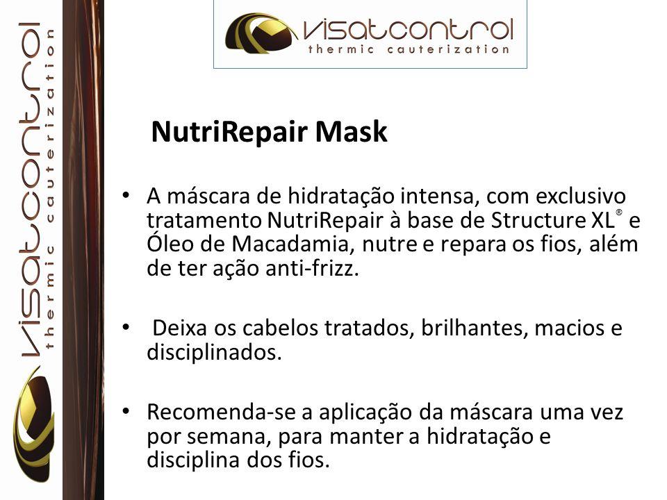 NutriRepair Mask A máscara de hidratação intensa, com exclusivo tratamento NutriRepair à base de Structure XL ® e Óleo de Macadamia, nutre e repara os