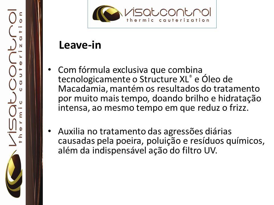 Leave-in Com fórmula exclusiva que combina tecnologicamente o Structure XL ® e Óleo de Macadamia, mantém os resultados do tratamento por muito mais te