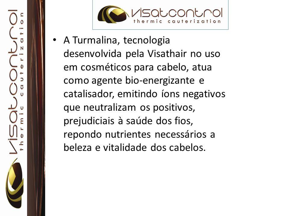 A Turmalina, tecnologia desenvolvida pela Visathair no uso em cosméticos para cabelo, atua como agente bio-energizante e catalisador, emitindo íons ne