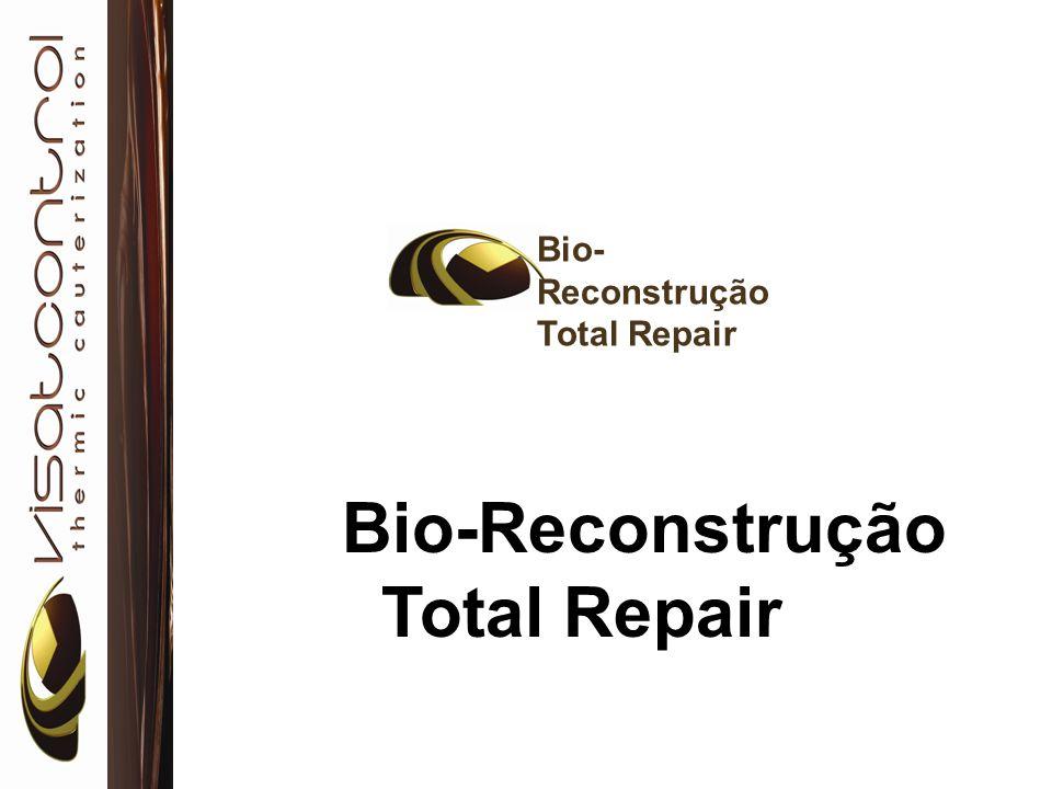Para executar a Bio-calterizaçãoTotal Repair Step1 Revitalizant Shampoo Step2 Total Repair Step3 De-frizz Conditioner Step4 Mask Stabilizer