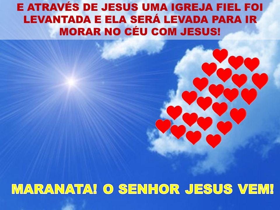 E ATRAVÉS DE JESUS UMA IGREJA FIEL FOI LEVANTADA E ELA SERÁ LEVADA PARA IR MORAR NO CÉU COM JESUS!