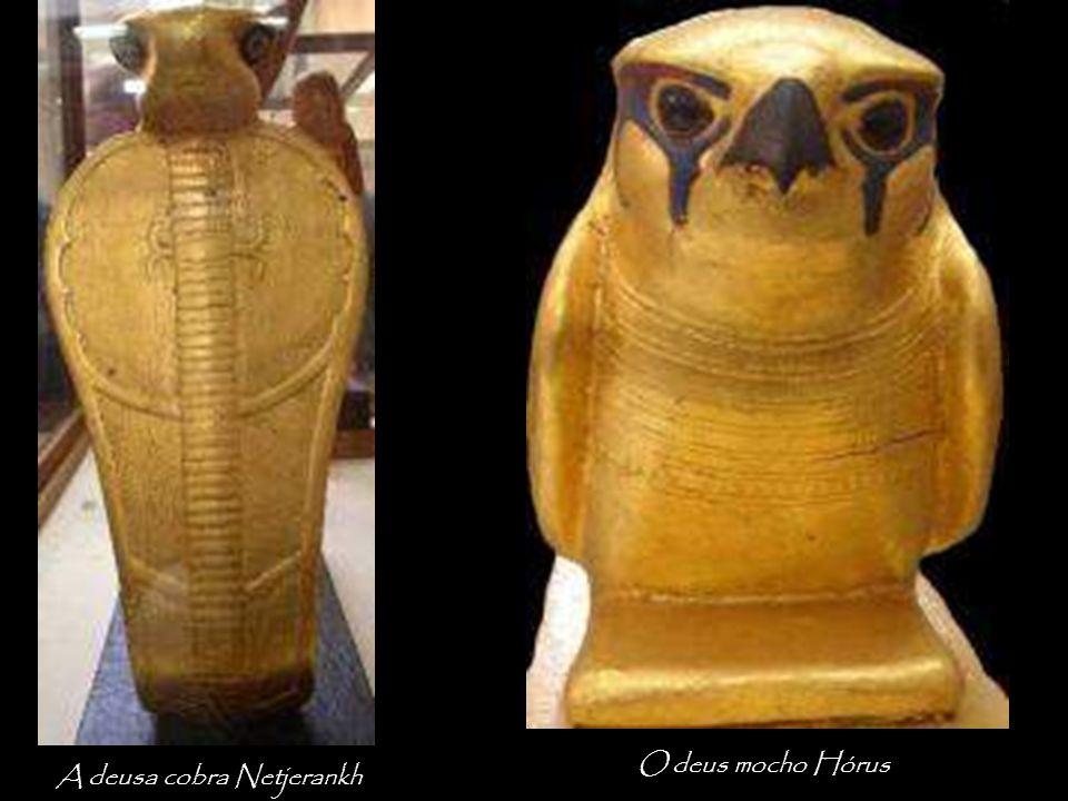 A deusa cobra Netjerankh O deus mocho Hórus