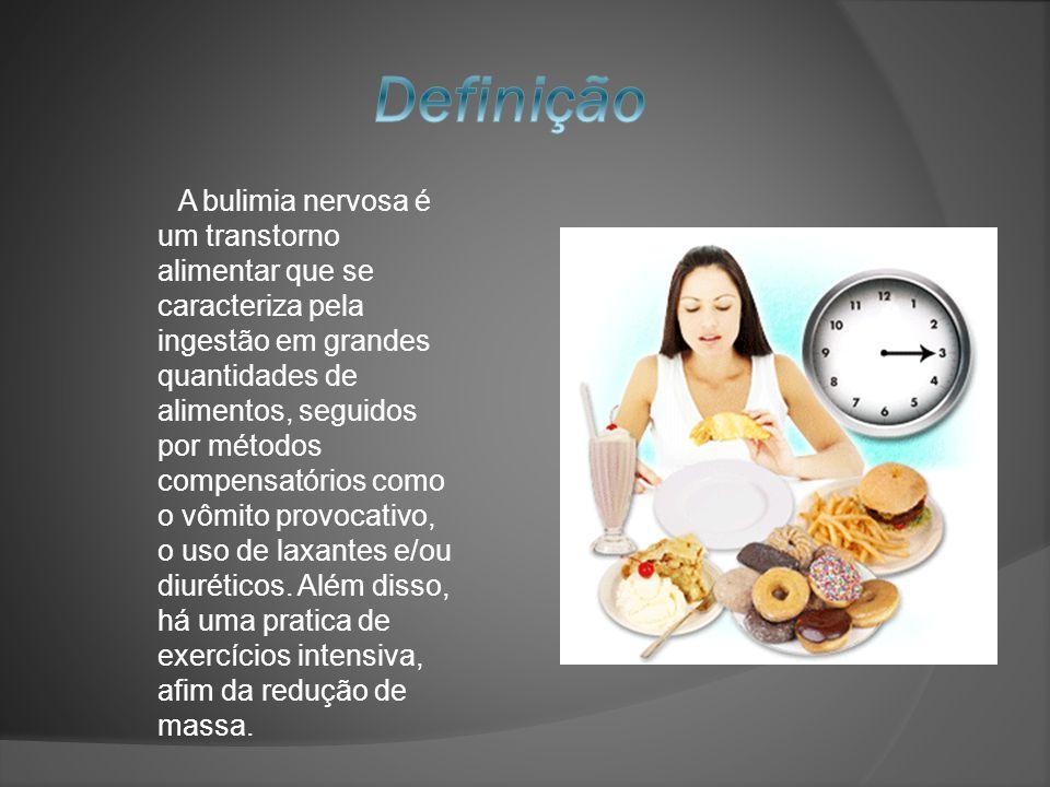 A bulimia nervosa é um transtorno alimentar que se caracteriza pela ingestão em grandes quantidades de alimentos, seguidos por métodos compensatórios