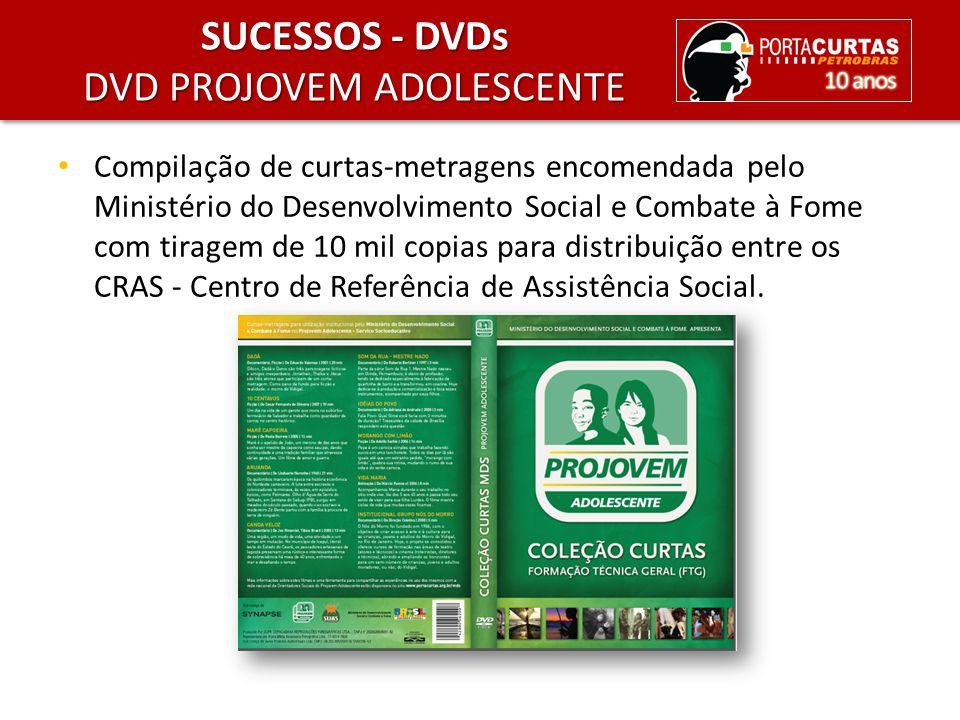 Compilação de curtas-metragens encomendada pelo Ministério do Desenvolvimento Social e Combate à Fome com tiragem de 10 mil copias para distribuição e