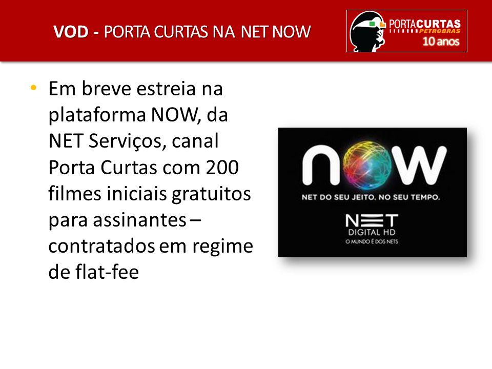 VOD - PORTA CURTAS NA NET NOW Em breve estreia na plataforma NOW, da NET Serviços, canal Porta Curtas com 200 filmes iniciais gratuitos para assinante