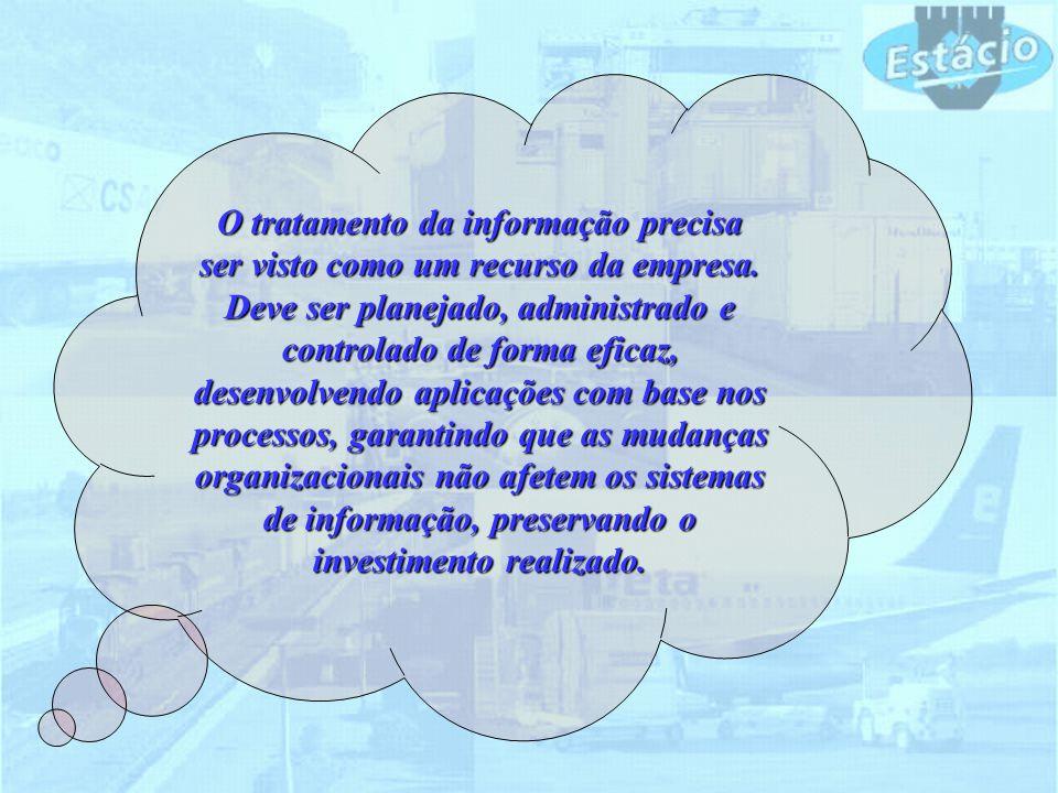 O tratamento da informação precisa ser visto como um recurso da empresa. Deve ser planejado, administrado e controlado de forma eficaz, desenvolvendo