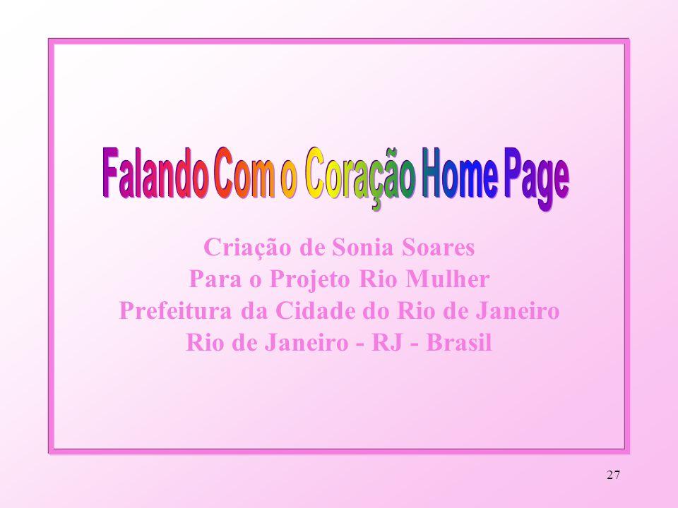 26 Um Projeto Para Você! Conte com ele! By Sonia Soares