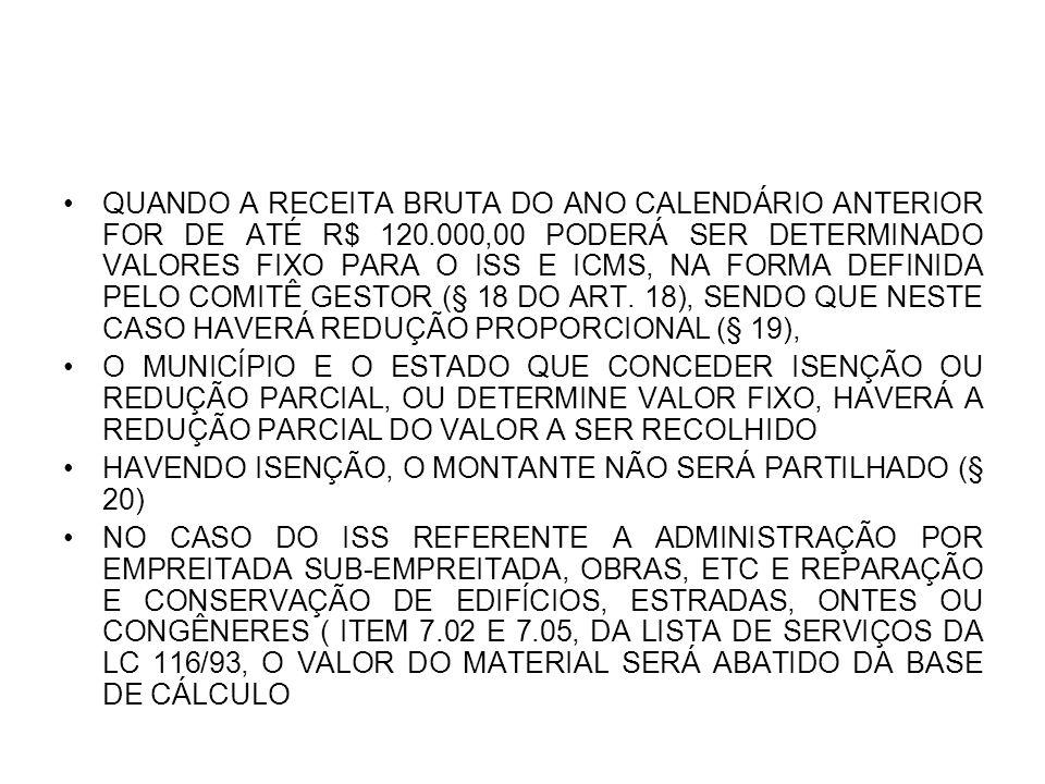 FAIXAS DIFERENCIADAS PELO PIB § 11 DO ART.3º CC. ARTS.