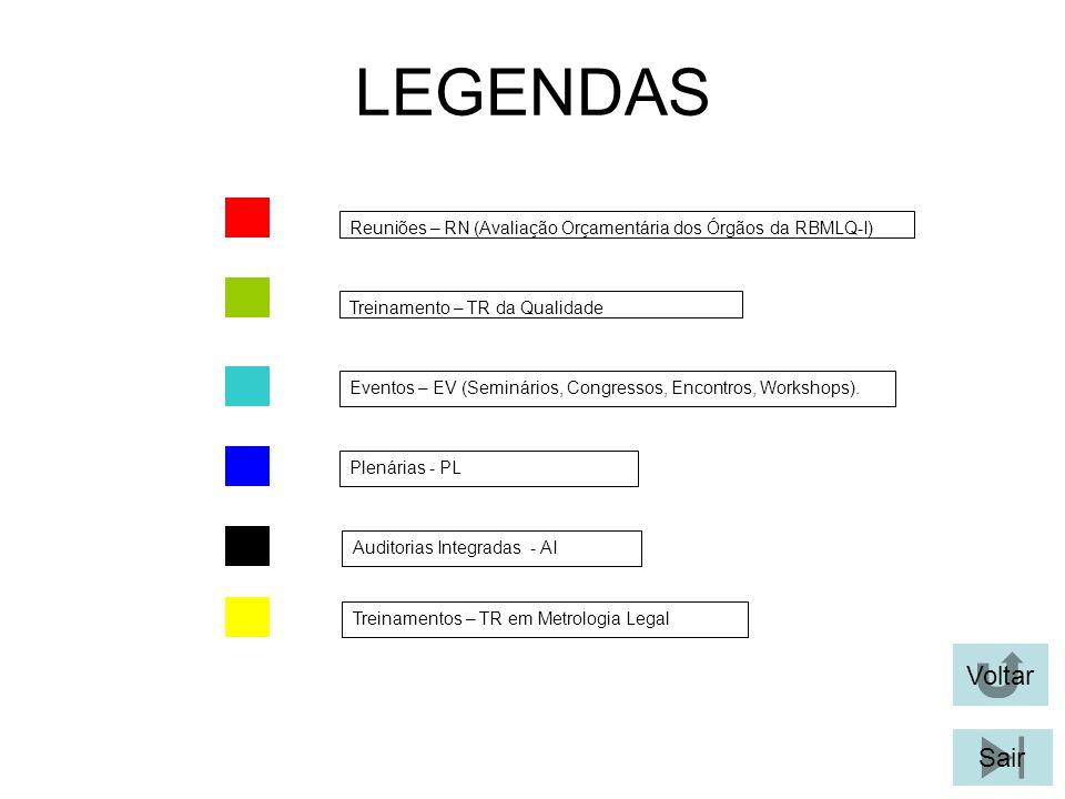 (25/09/2008) REUNIÃO DE AVALIAÇÃO ORÇAMENTÁRIA DOS ÓRGÃOS DA RBMLQ-I Voltar Local: INMETRO-XERÉM Sair Órgãos da RBMLQ-I: IBAMETRO, IMEP-PA, IPEMAR