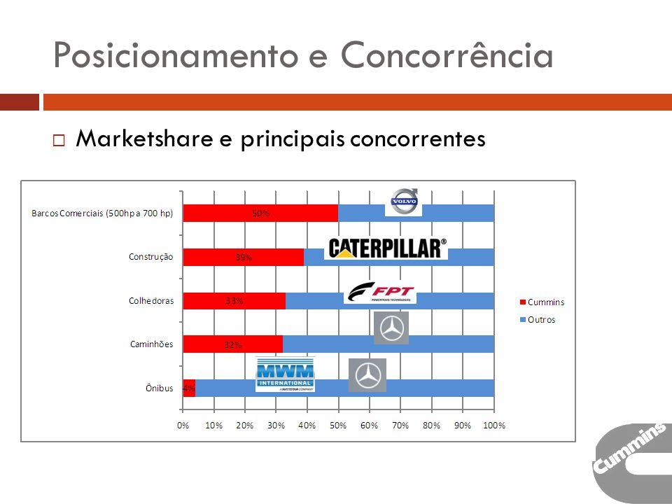 Posicionamento e Concorrência Marketshare e principais concorrentes