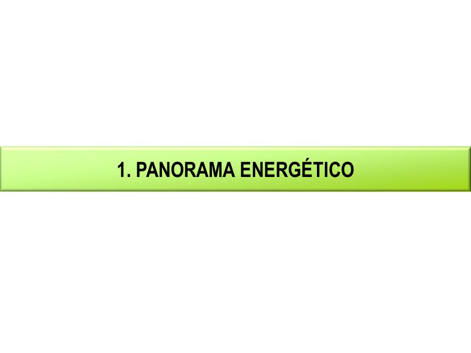 1. PANORAMA ENERGÉTICO