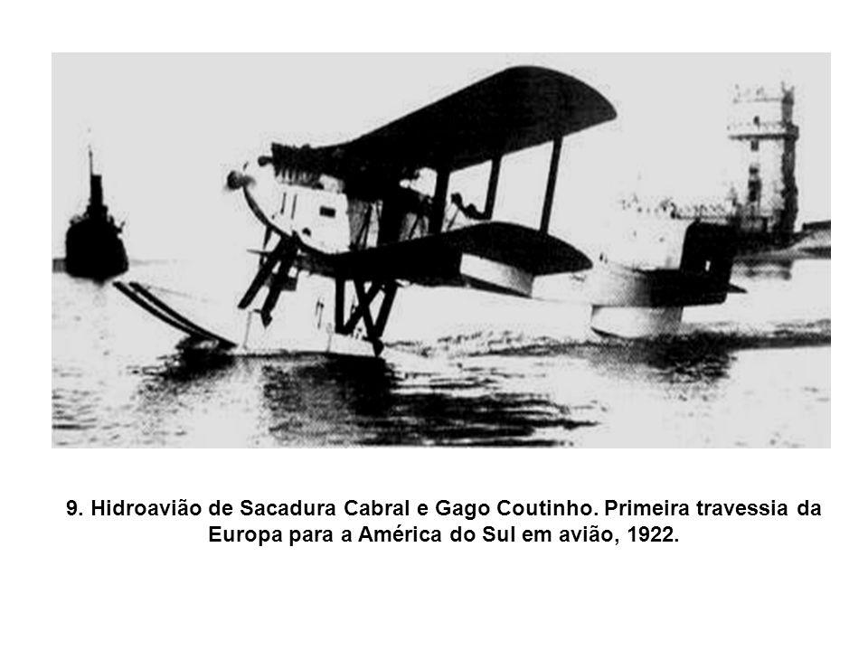 8. Hidroavião Sampaio Correia II, pilotado por Pinto Martins. Foto de 1923.