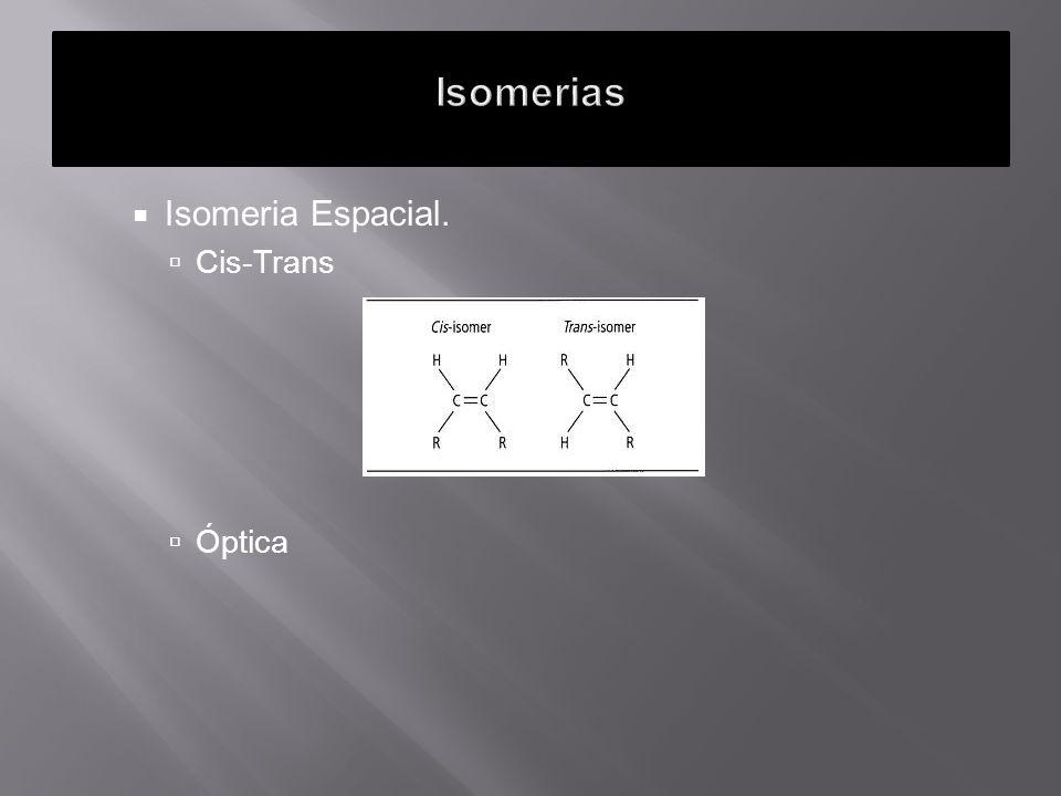 Isomeria Espacial. Cis-Trans Óptica