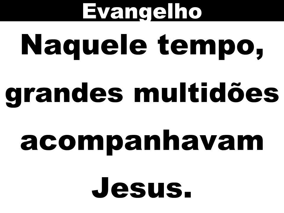 Naquele tempo, grandes multidões acompanhavam Jesus. Evangelho