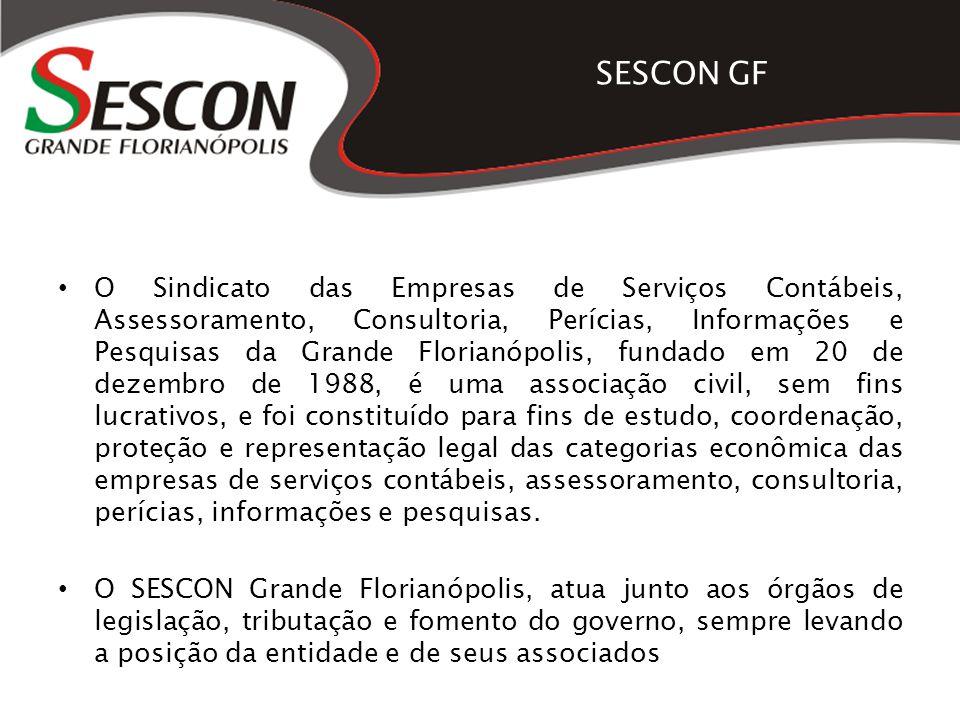 SESCON GF O Sindicato das Empresas de Serviços Contábeis, Assessoramento, Consultoria, Perícias, Informações e Pesquisas da Grande Florianópolis, fund