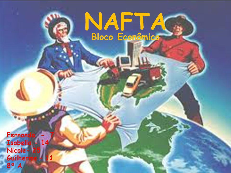 NAFTA Fernanda - 7 Isabella - 14 Nicole- 25 Guilherme – 11 8º A Bloco Econômico