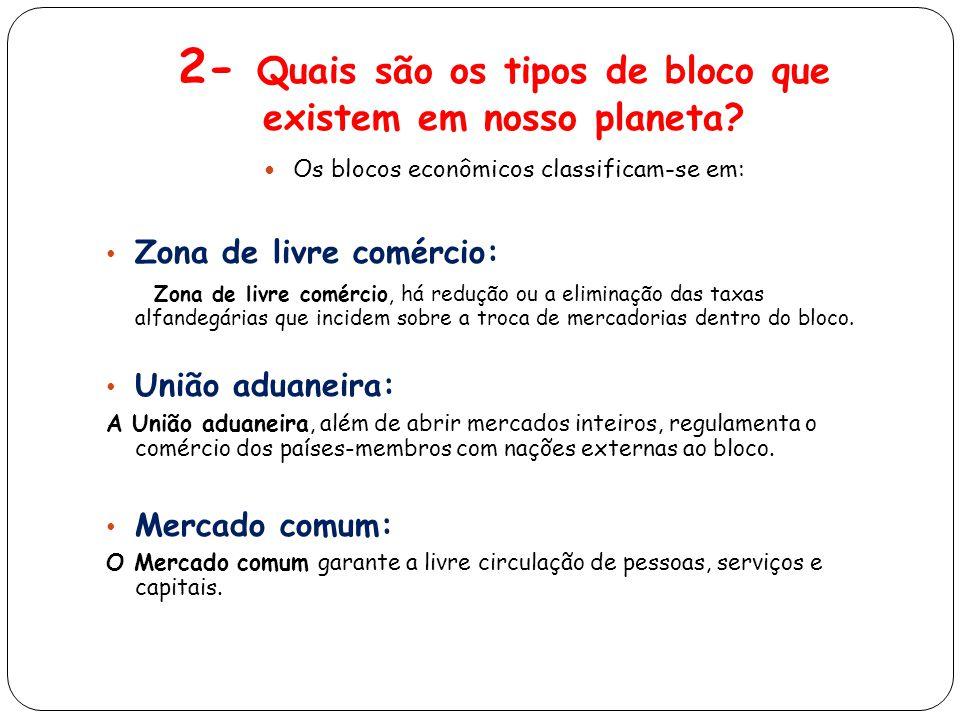 2- Quais são os tipos de bloco que existem em nosso planeta.