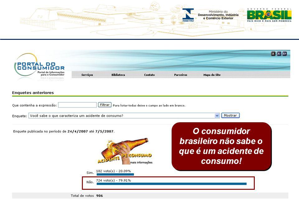 O consumidor brasileiro não sabe o que é um acidente de consumo!