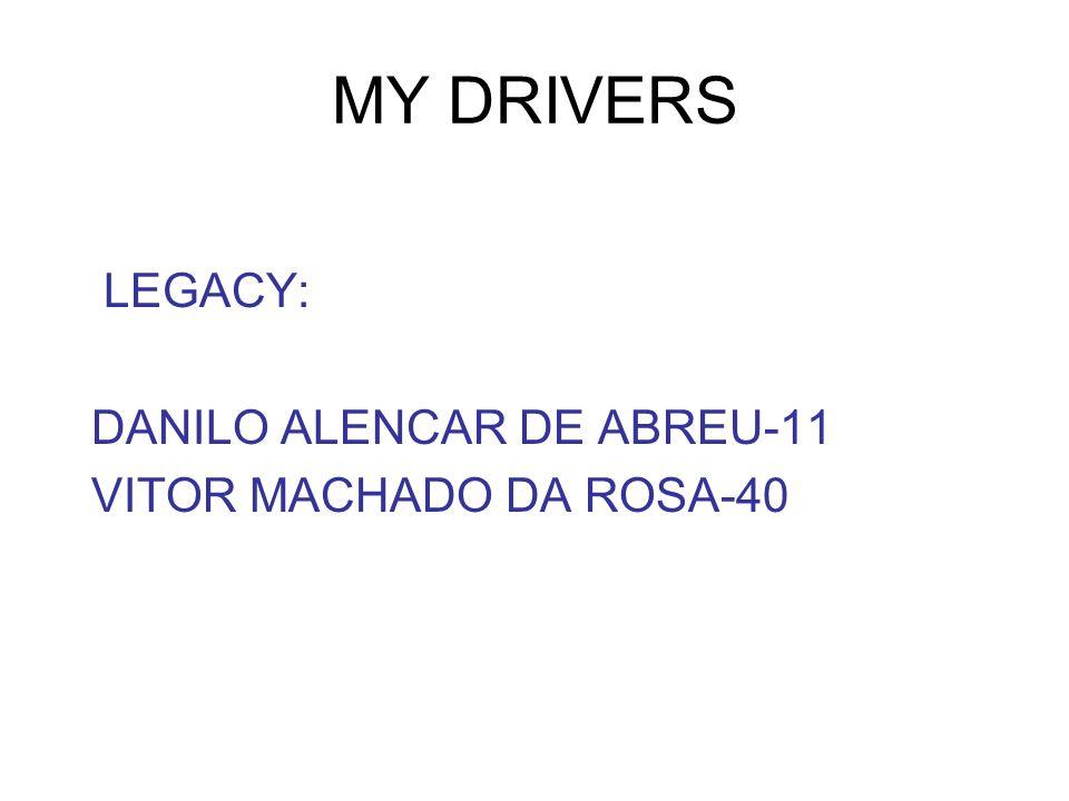 MY DRIVERS LEGACY: DANILO ALENCAR DE ABREU-11 VITOR MACHADO DA ROSA-40