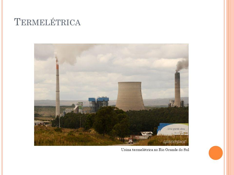 T ERMELÉTRICA NO B RASIL No Brasil existem cerca de 100 termelétricas.