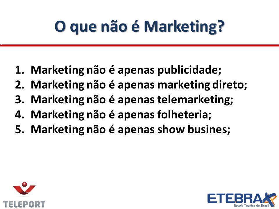 O que não é Marketing.