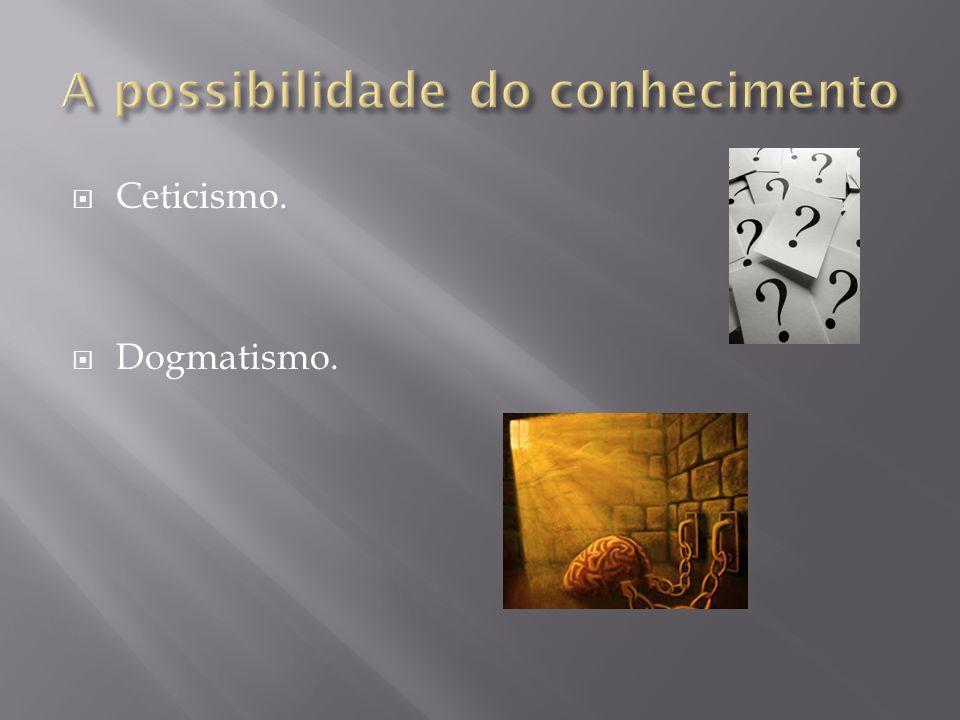 Ceticismo. Dogmatismo.