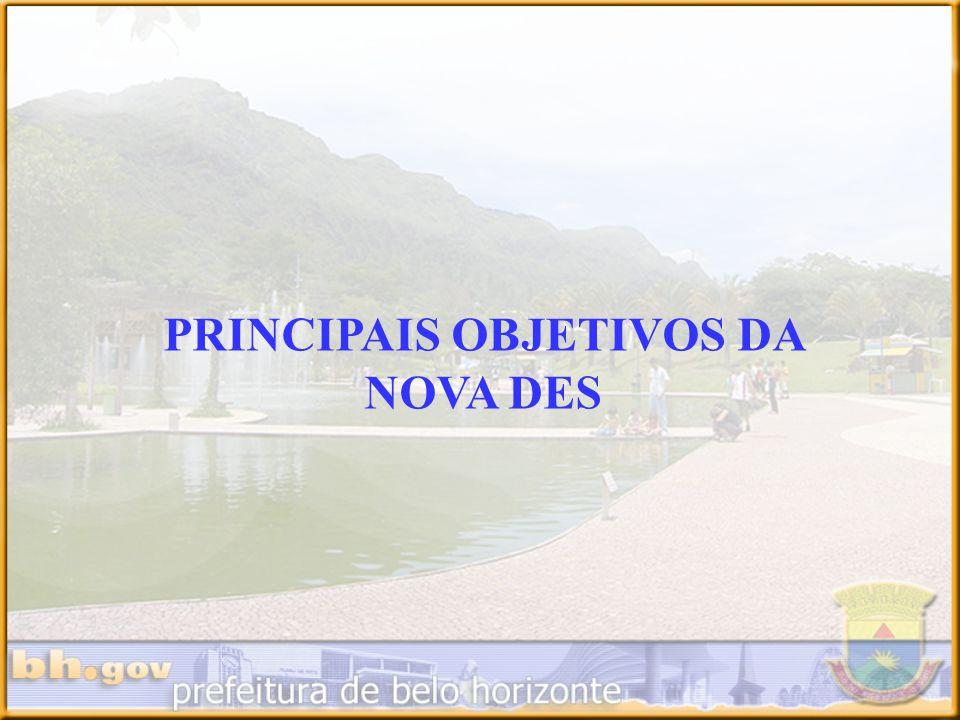 PRINCIPAIS OBJETIVOS DA NOVA DES