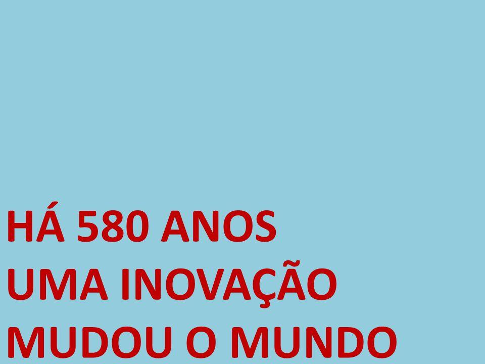 HÁ 580 ANOS UMA INOVAÇÃO MUDOU O MUNDO