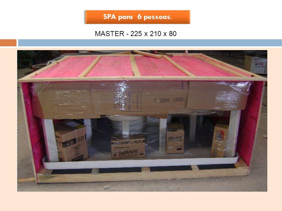 PRODUTO EM ACRÍLICO SPA para 6 pessoas. SPA para 6 pessoas. MASTER - 225 x 210 x 80