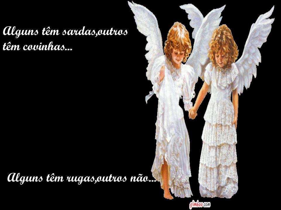 Os anjos aparecem em em todos os tamanhos e formas, todas as idades e tipos de pele.
