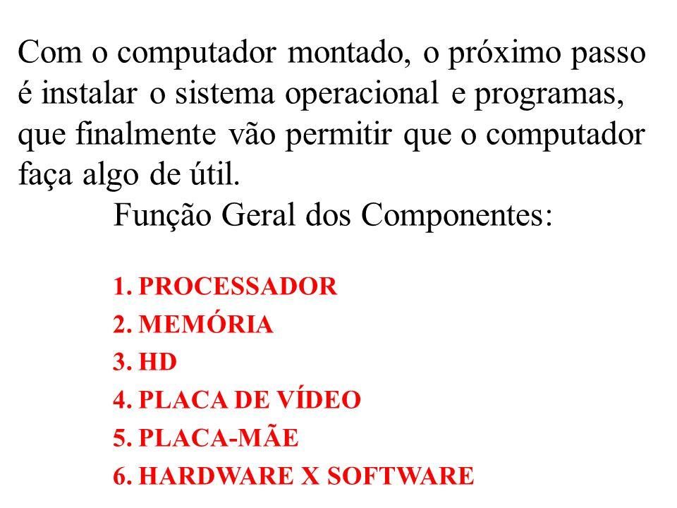 Com o computador montado, o próximo passo é instalar o sistema operacional e programas, que finalmente vão permitir que o computador faça algo de útil