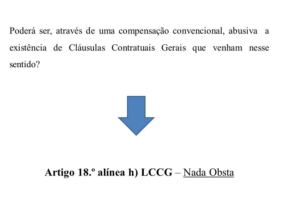 Poderá ser, através de uma compensação convencional, abusiva a existência de Cláusulas Contratuais Gerais que venham nesse sentido.