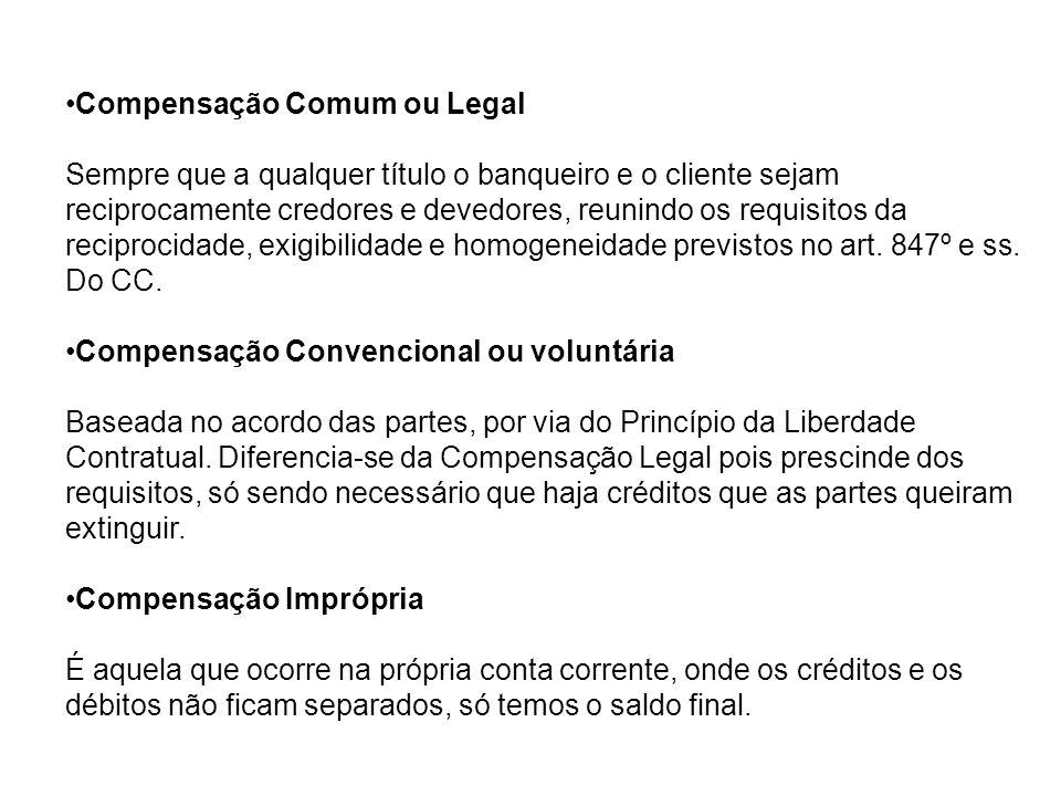 Exemplos de cláusulas nas condições gerais de abertura de conta de depósito à ordem: 6.
