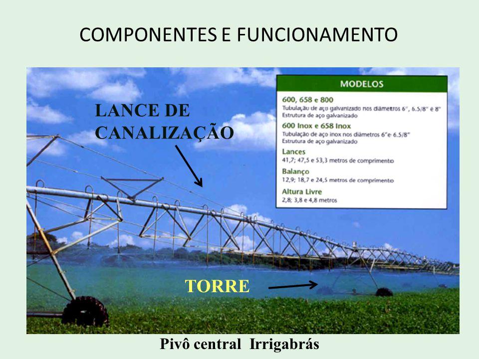 COMPONENTES E FUNCIONAMENTO As torres são estruturas metálicas com forma triangular, apoiadas em rodas pneumáticas.