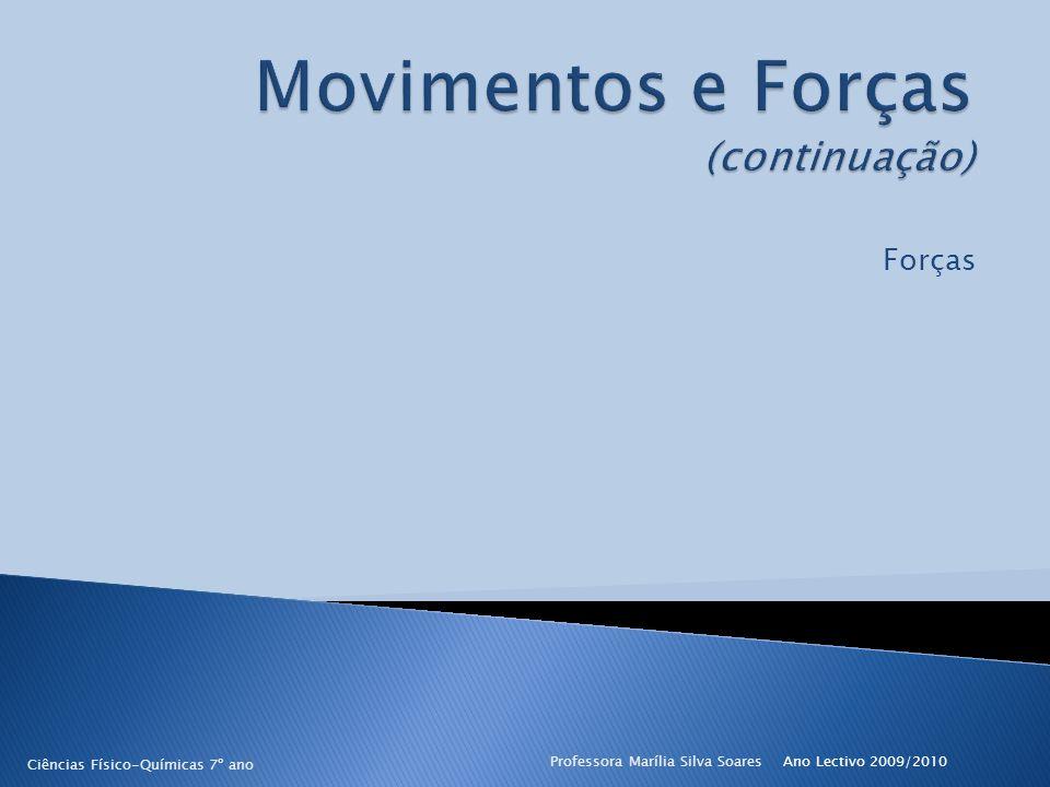Ano Lectivo 2009/2010Professora Marília Silva Soares2 Movimentos e Forças FORÇA O que é uma força.