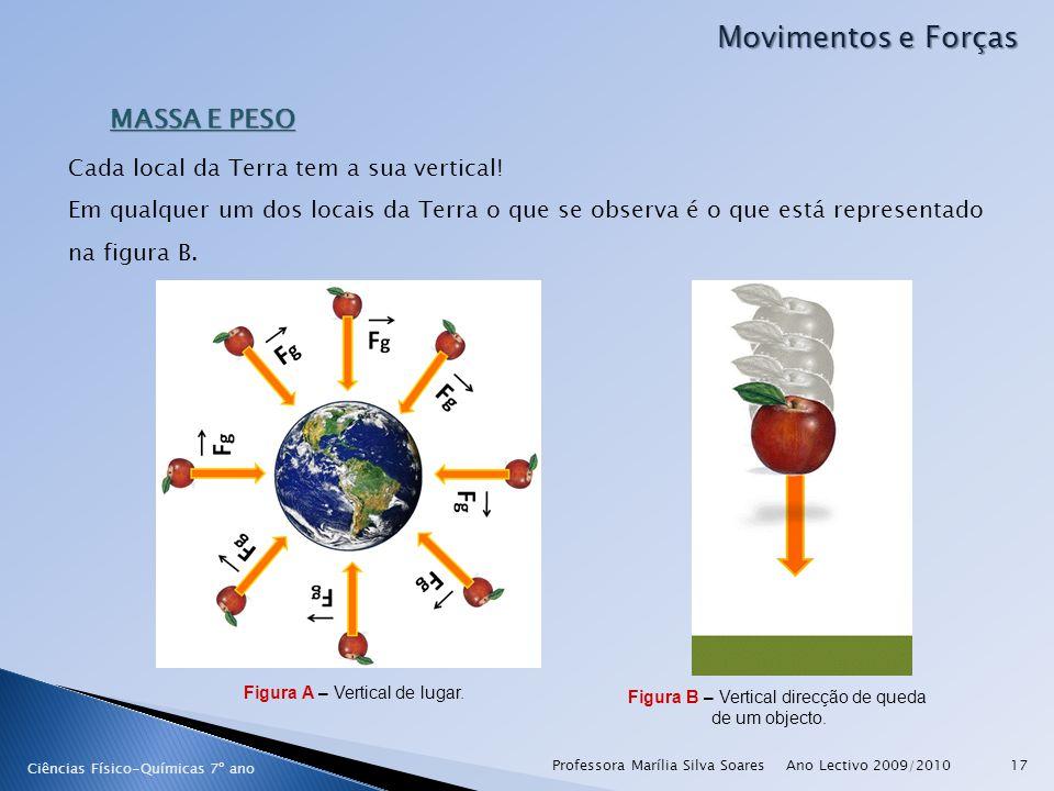 Ano Lectivo 2009/2010Professora Marília Silva Soares17 MASSA E PESO Ciências Físico-Químicas 7º ano Cada local da Terra tem a sua vertical! Em qualque