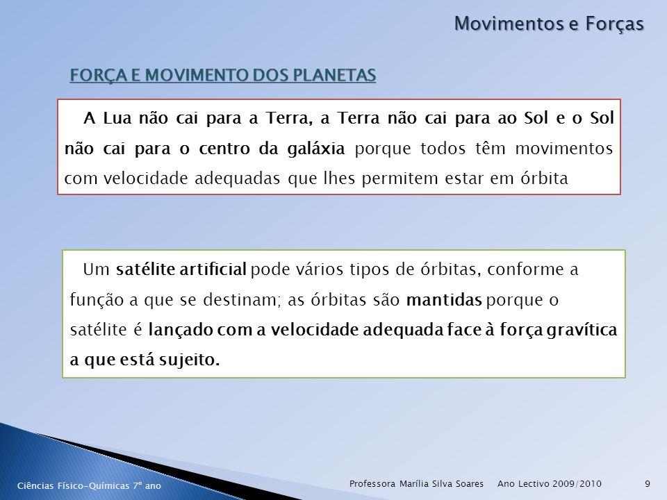 Ano Lectivo 2009/2010Professora Marília Silva Soares30 Movimentos e Forças Ciências Físico-Químicas 7º ano O fenómeno das Marés