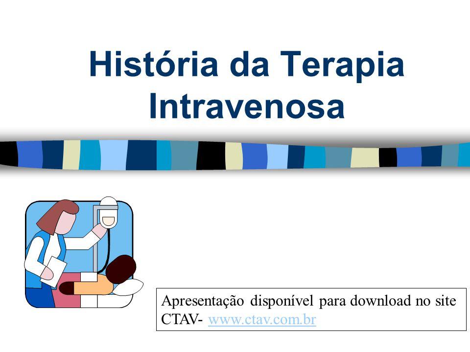 História da Terapia Intravenosa Apresentação disponível para download no site CTAV- www.ctav.com.brwww.ctav.com.br