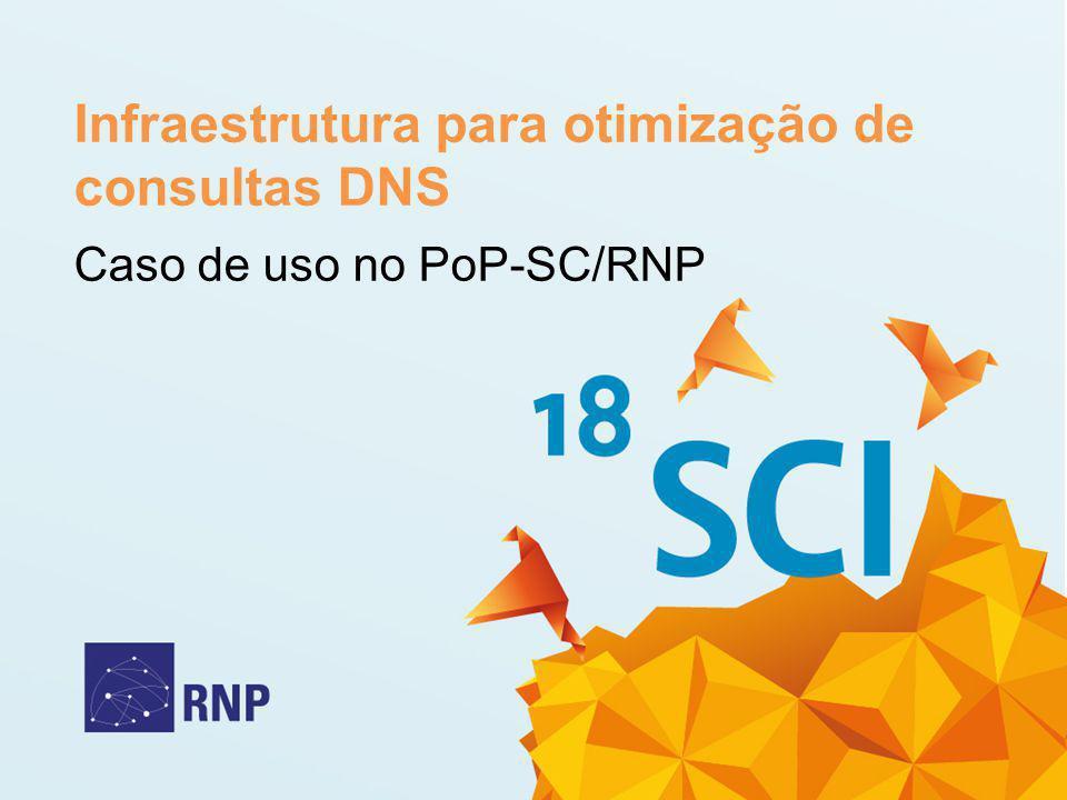Infraestrutura para otimização de consultas DNS Caso de uso no PoP-SC/RNP