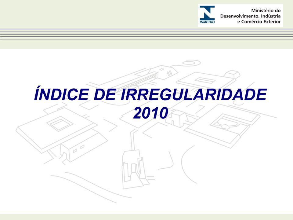 ÍNDICE DE IRREGULARIDADE 2010