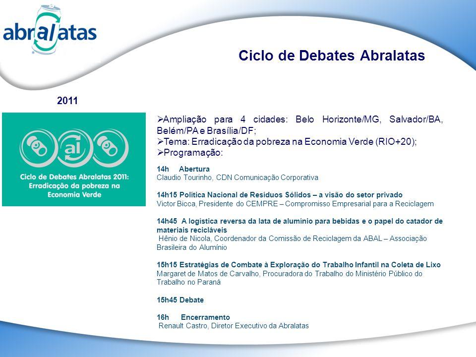 Ampliação para 4 cidades: Belo Horizonte/MG, Salvador/BA, Belém/PA e Brasília/DF; Tema: Erradicação da pobreza na Economia Verde (RIO+20); Programação