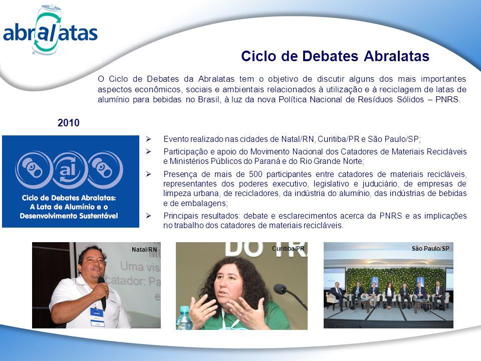O Ciclo de Debates da Abralatas tem o objetivo de discutir alguns dos mais importantes aspectos econômicos, sociais e ambientais relacionados à utiliz