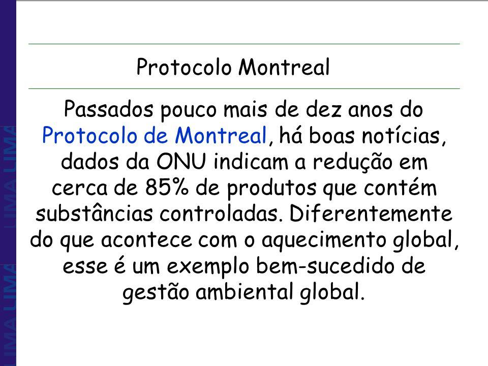 Passados pouco mais de dez anos do Protocolo de Montreal, há boas notícias, dados da ONU indicam a redução em cerca de 85% de produtos que contém subs