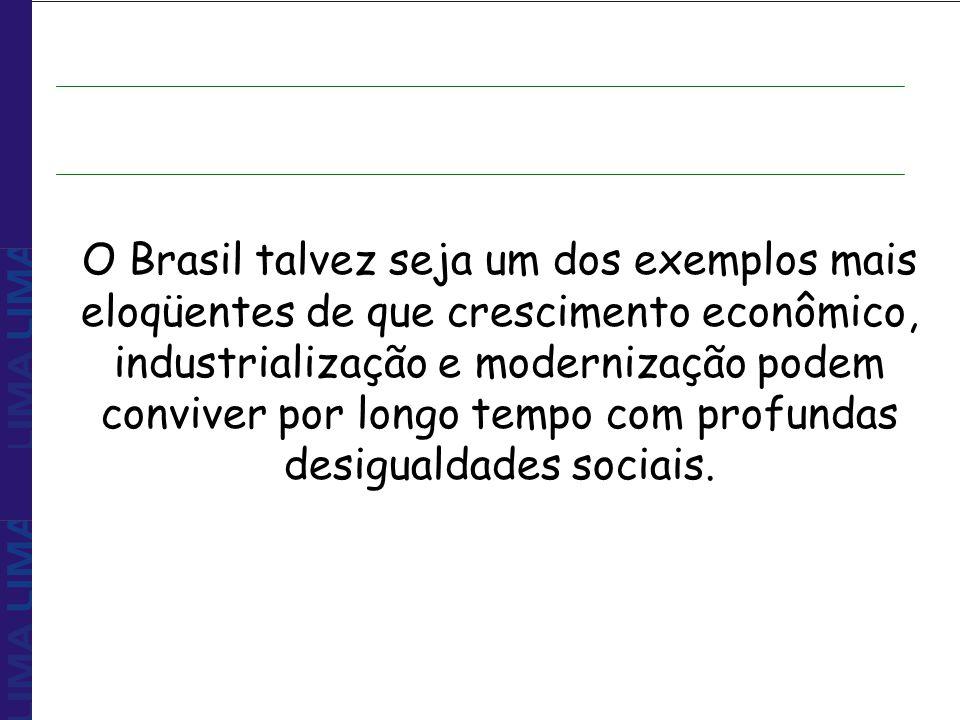 O Brasil talvez seja um dos exemplos mais eloqüentes de que crescimento econômico, industrialização e modernização podem conviver por longo tempo com