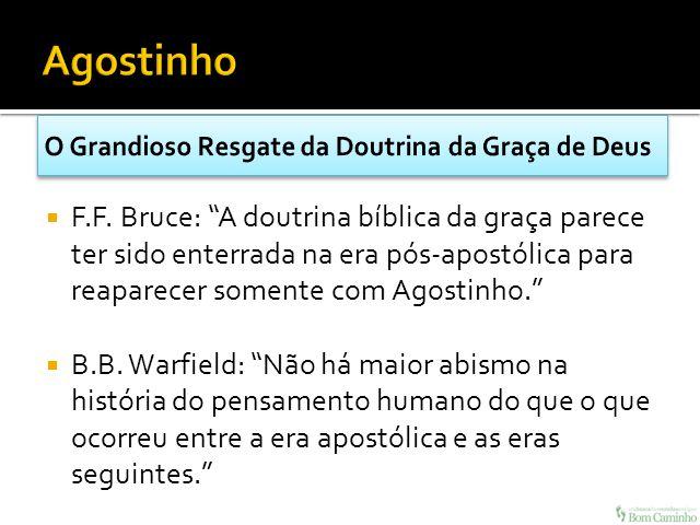 F.F. Bruce: A doutrina bíblica da graça parece ter sido enterrada na era pós-apostólica para reaparecer somente com Agostinho. B.B. Warfield: Não há m