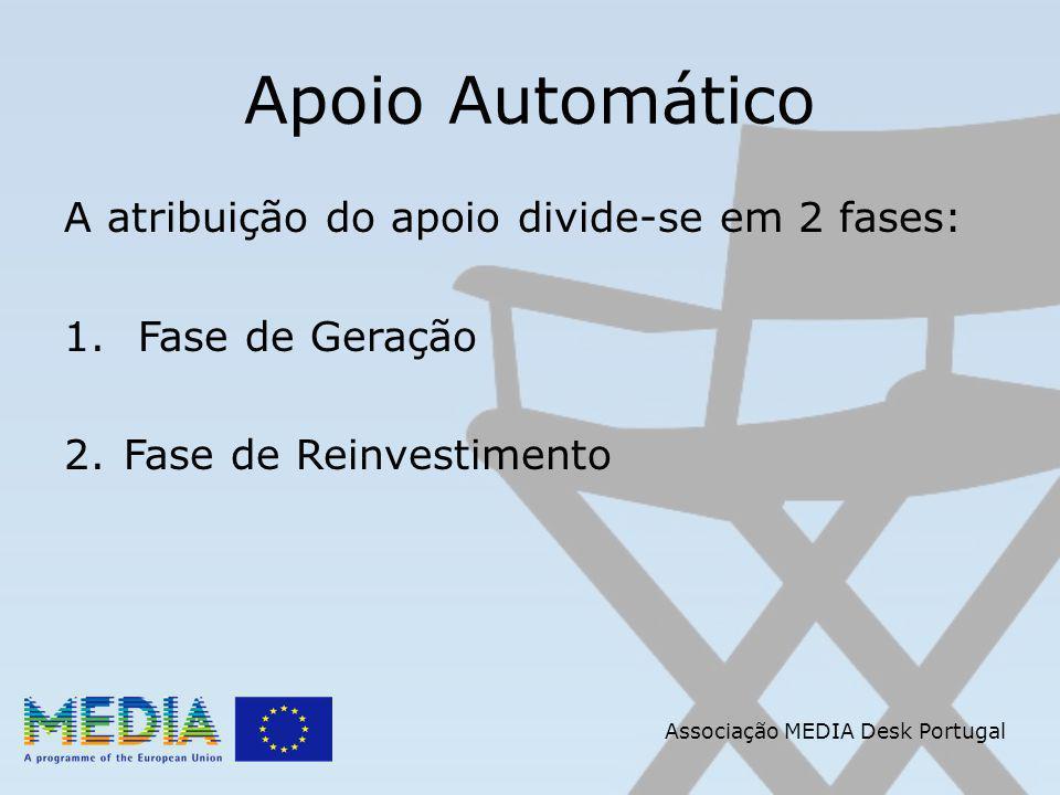Apoio Automático A atribuição do apoio divide-se em 2 fases: 1.