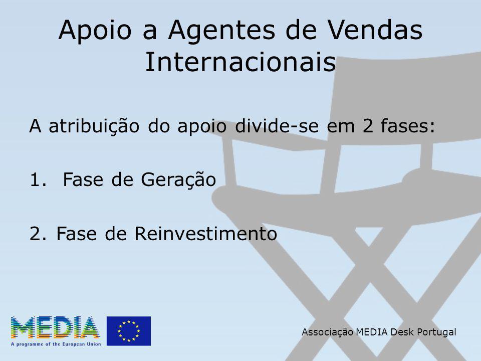 Apoio a Agentes de Vendas Internacionais A atribuição do apoio divide-se em 2 fases: 1.