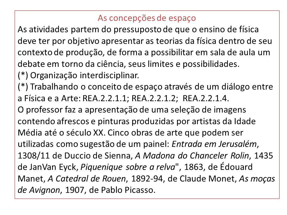 As moças de Avignon, 1907, de Pablo Picasso A pintura de Picasso mostra um espaço distorcido, em que as regras da perspectiva não mais se fazem presentes.