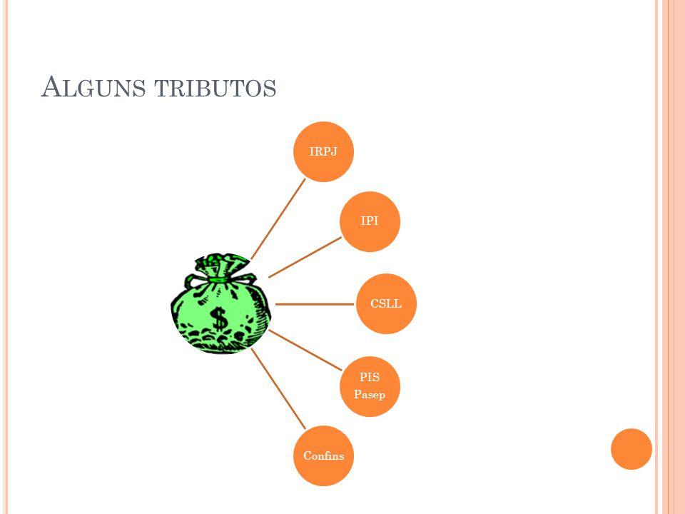 A LGUNS TRIBUTOS IRPJIPICSLL PIS Pasep Confins